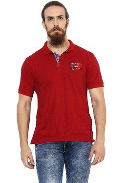 Red Chief Red Half Sleeves Polo T-Shirt