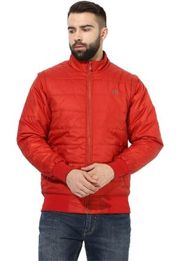 Red Chief Red Full Sleeves Quilted Jacket