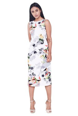 AND Off White Floral Print Midi Dress