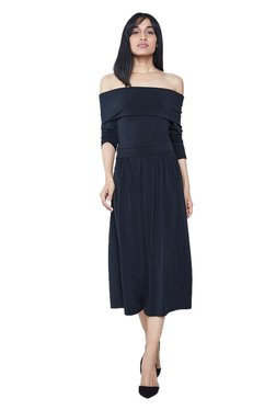 AND Black Regular Fit Midi Dress