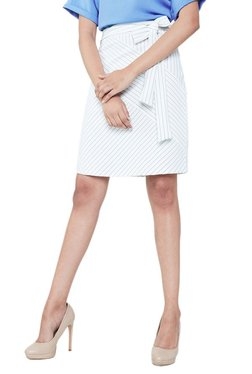 AND White & Black Striped Pencil Skirt