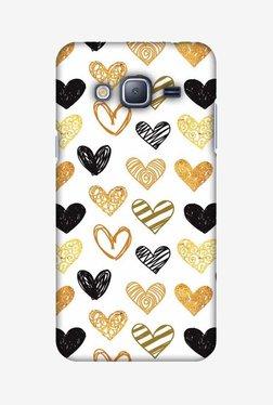 Amzer I Heart Hearts Hard Shell Designer Case For Samsung J3