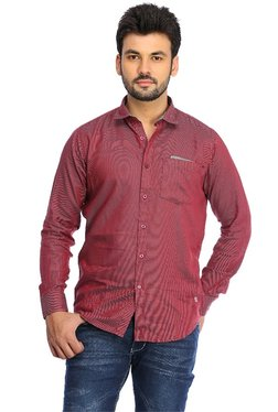 Red Chief Red Full Sleeves Shirt