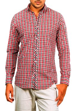 Red Chief Red Checks Regular Fit Shirt