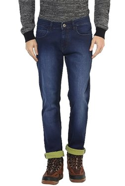 Red Chief Blue Lightly Washed Mid Rise Cotton Jeans