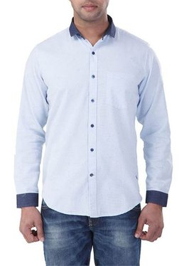 Red Chief White Cotton Shirt