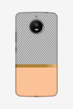 Amzer Stripe Away Hard Shell Designer Case For Moto E4 Plus