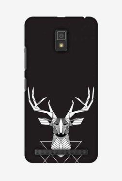 Amzer Geometric Deer Hard Shell Designer Case For Lenovo A6600/A6600 Plus