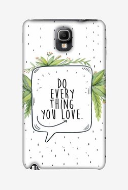 Amzer Do Everything You Love Designer Case For Samsung Note 3