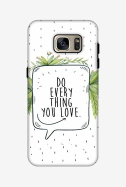 Amzer Do Everything You Love Hybrid Dual Layer Hard Shell Designer Case For Samsung S7 Edge