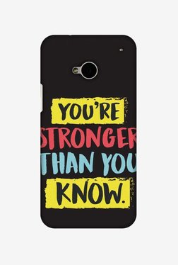 Amzer You Are Stronger Than Hard Shell Designer Case For HTC One M7