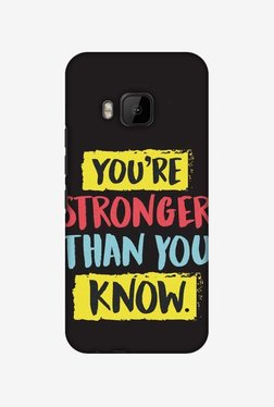 Amzer You Are Stronger Than Hard Shell Designer Case For HTC One M9