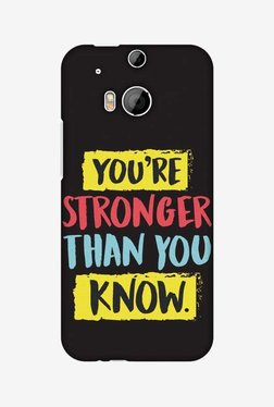 Amzer You Are Stronger Than Hard Shell Designer Case For HTC One M8/M8 EYE/M8s