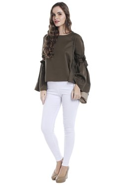 Globus Olive Loose Fit Boxy Top