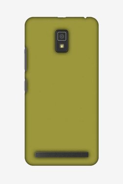 Amzer Golden Lime Hard Shell Designer Case For Lenovo A6600/A6600 Plus