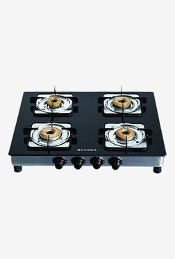 Faber Supreme SS 4BB Gas Cooktop (Black)