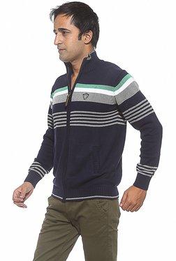 Spykar Navy Slim Fit Sweatshirt