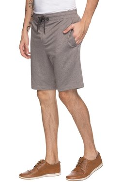 Jadeblue Brown Cotton Mid Rise Shorts