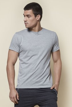 01a371856a46 Zudio Grey Slim Fit T-Shirt