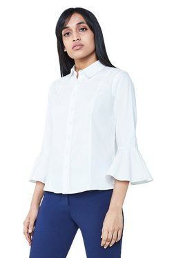 AND White Regular Fit Top