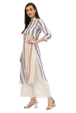 Jaipur Kurti Multicolor Striped Kurta