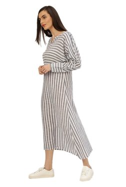 Jaipur Kurti Grey Striped Dress beceb1a6e
