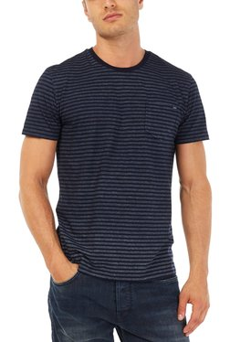 Gas Blue Striped T-Shirt SARKO/S POCKET