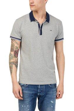 Gas Grey Textured T-Shirt RALPH/S RIB