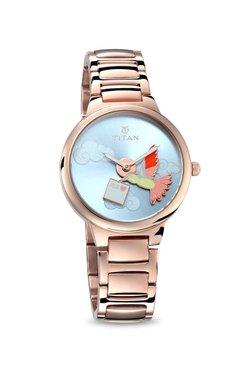 Titan 95081WM01 Valentine Humming Bird Charm Analog Watch For Women