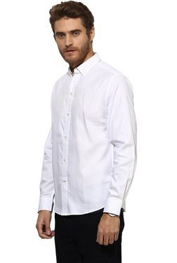 Red Tape White Button Down Collar Shirt