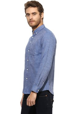 Red Tape Blue Full Sleeves Button Down Collar Shirt