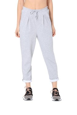 Puma Grey Textured Roll-Up Trackpants