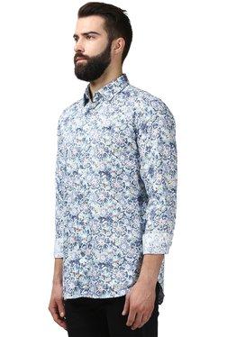 Raymond Blue Contemporary Fit Printed Shirt