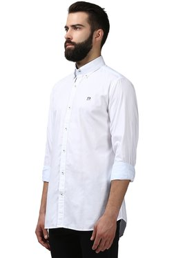 Raymond White Button Down Collar Shirt