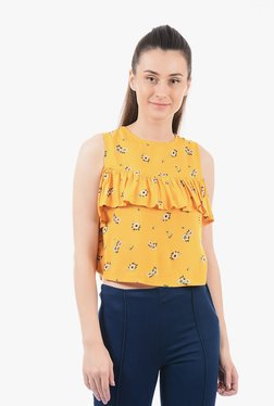 Pepe Jeans Gold Printed Top