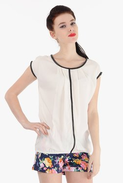 Pepe Jeans White Round Neck Top