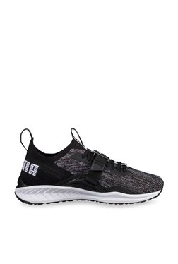Puma Ignite EvoKNIT Lo 2 Black & Quiet Shade Running Shoes