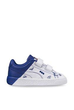 Kids JL Basket V PS Justice League White & Limoges Sneakers