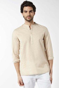 ETA By Westside Beige Resort Fit Linen Blend Shirt