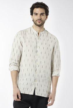 ETA By Westside Beige Resort Fit Pure Linen Shirt