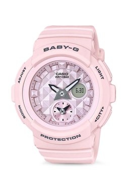38c2bec342b9 Casio Baby-g Analog-Digital Red Dial Women's Watch-BGA-190BE-4ADR ...