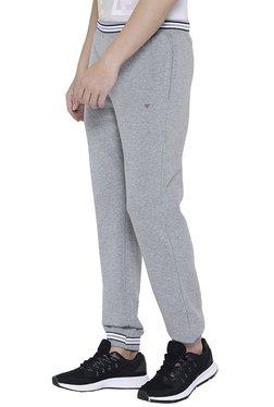 Neva Grey Cotton Mid Rise Joggers