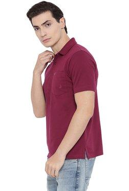Neva Magenta Regular Fit Half Sleeves Polo T-Shirt