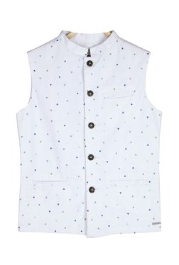 Gini   Jony Kids White Printed Jacket a258a2a05