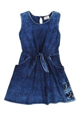 9b2a7e51aed6a Gini   Jony Kids Navy Washed Dress
