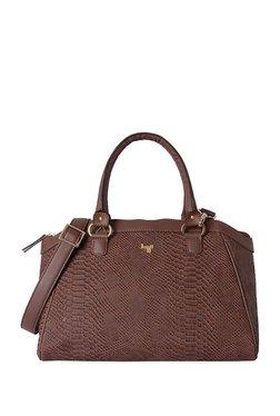 09338242d865 Baggit Bahamas Brown Textured Handbag