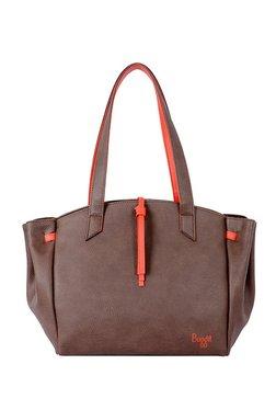 Baggit Stunning Dark Brown Solid Shoulder Bag