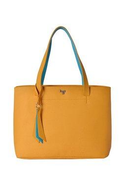 Baggit Bluto Yellow Ochre Solid Shoulder Bag