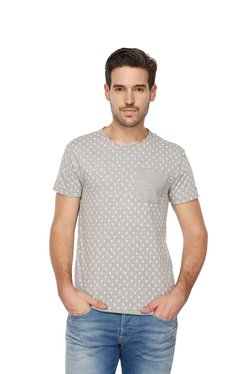 Gas Grey Slim Fit Crew Neck T-Shirt
