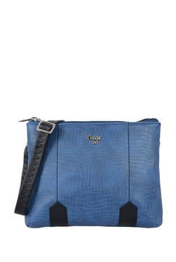 Baggit Havana Navy & Black Paneled Sling Bag